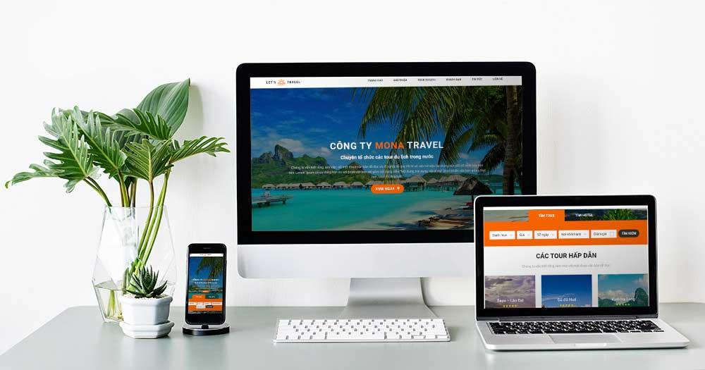 Tăng sự chuyên nghiệp bằng website du lịch