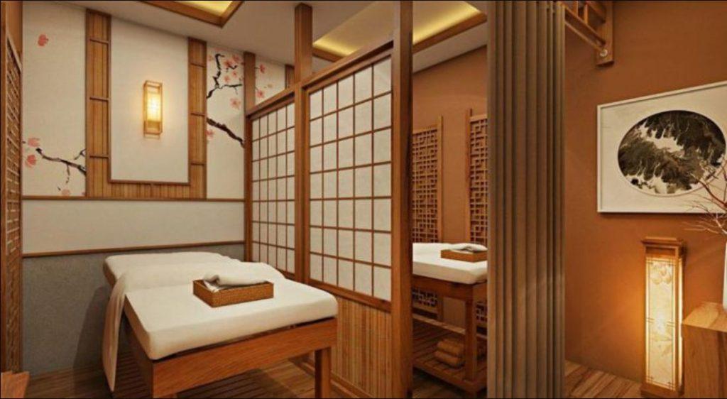trang trí mô hình spa